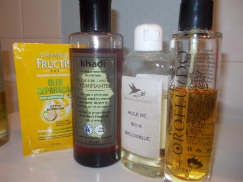 Les huiles pour les cheveux