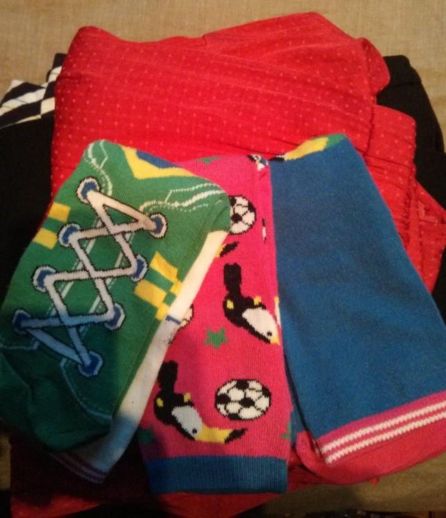 La pile et les chaussettes