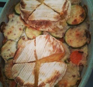 gratin de légumes au camembert