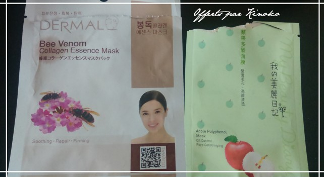 Masque dermal et my beauty diary