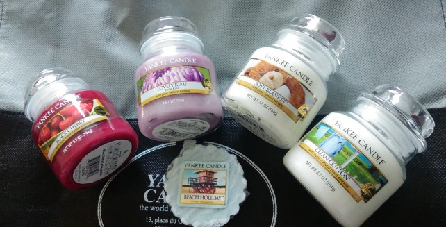 Mes derniers achats Yankee candle